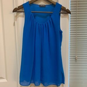 Kenneth Cole Reaction Blue Sleeveless Top